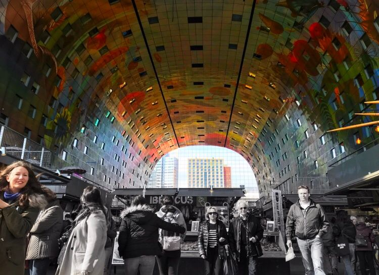 Colourful Markthal Rotterdam