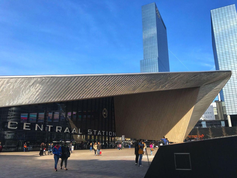 New modern Centraal Train Station Rotterdam