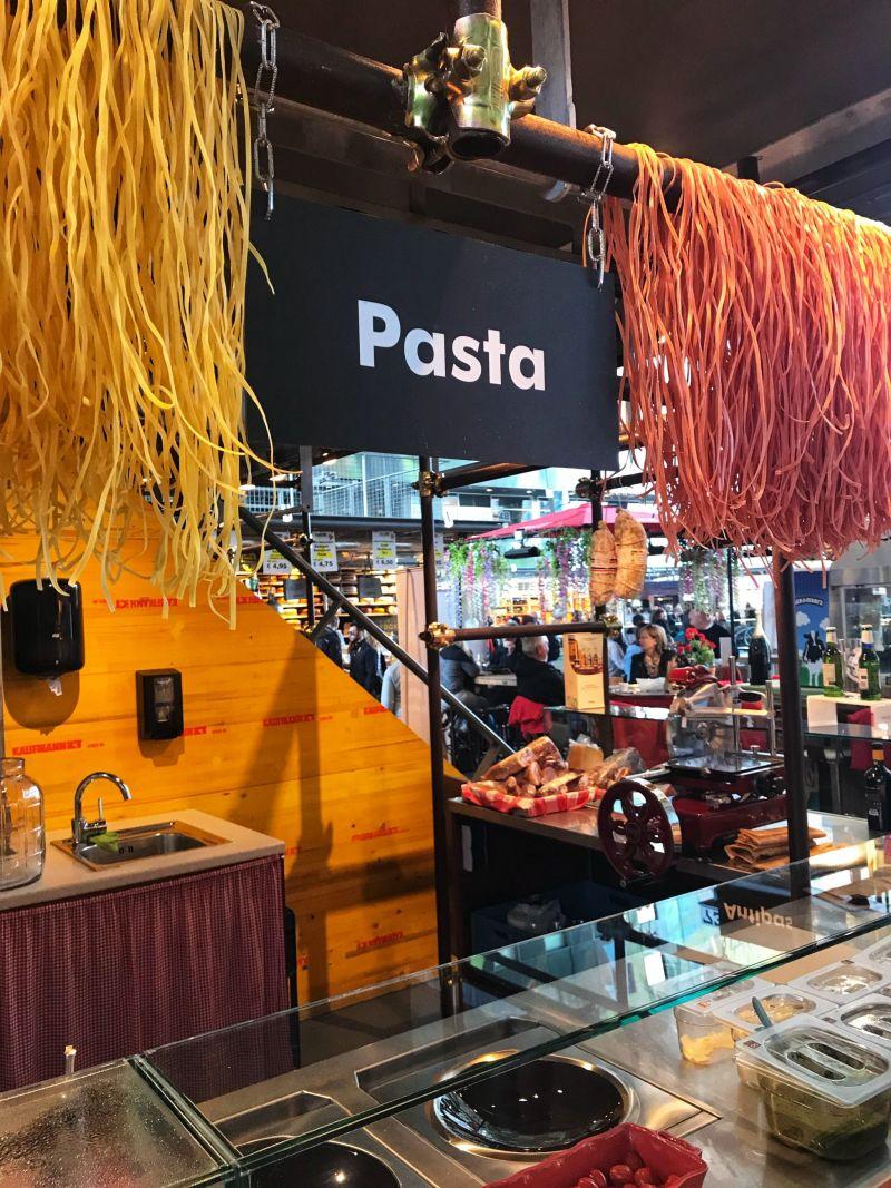Pasta at Markthal Rotterdam
