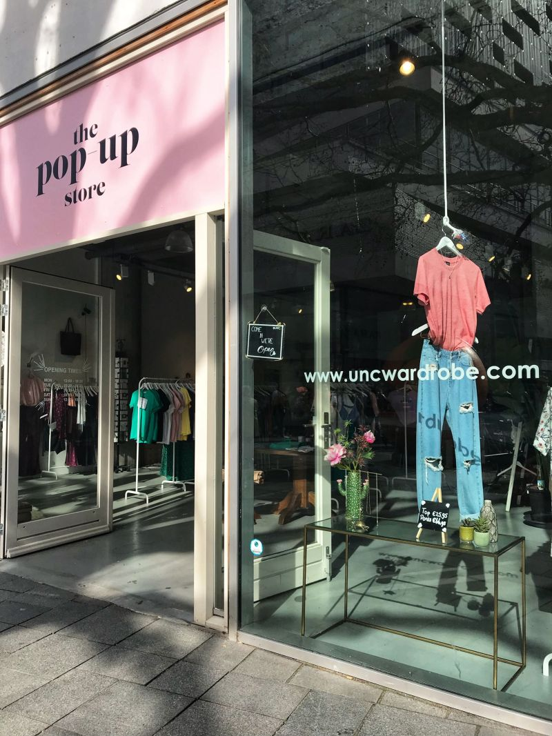 uncwardrobe Pop-up concept fashion store Holland