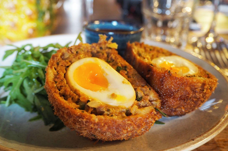 Oriental Spiced Pork Scotch Egg Sesame Soy Dip Starter 185 Watling Street