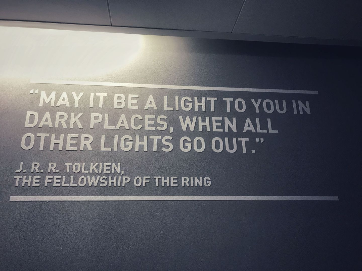 When All other lights go Out Quote Lord of the rings
