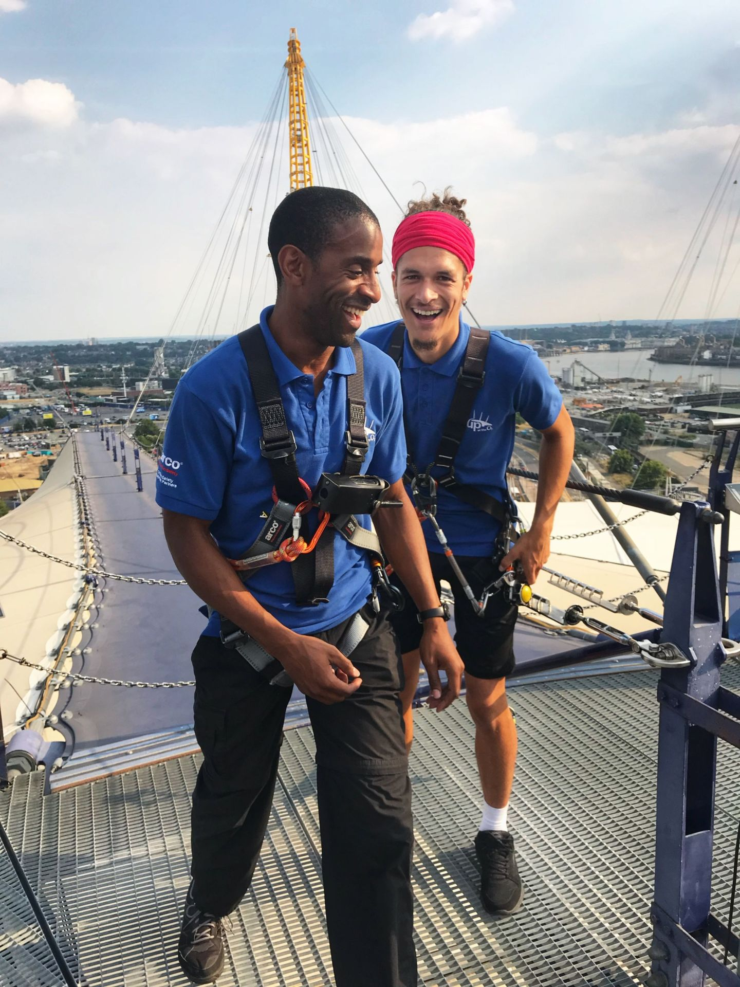 Our fun guides Eke & Shaahid Up at the O2
