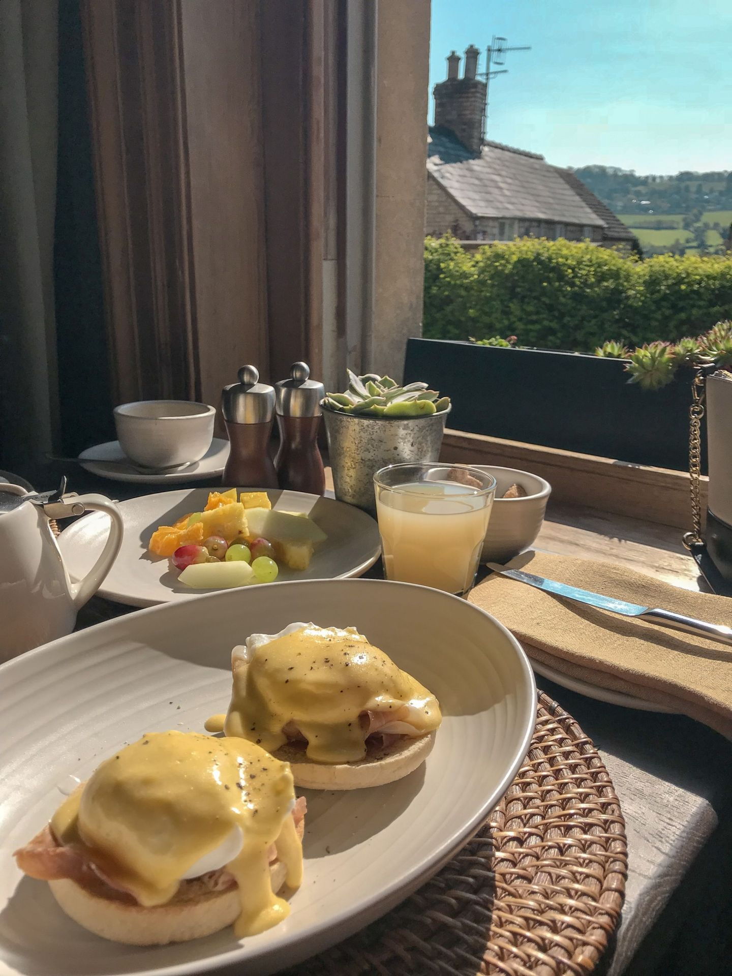Stunning breakfast views at The Painswick