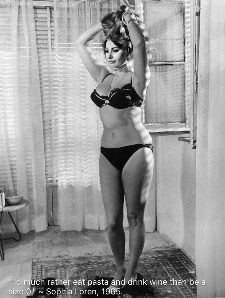 Sophia Loren's love for pasta and wine
