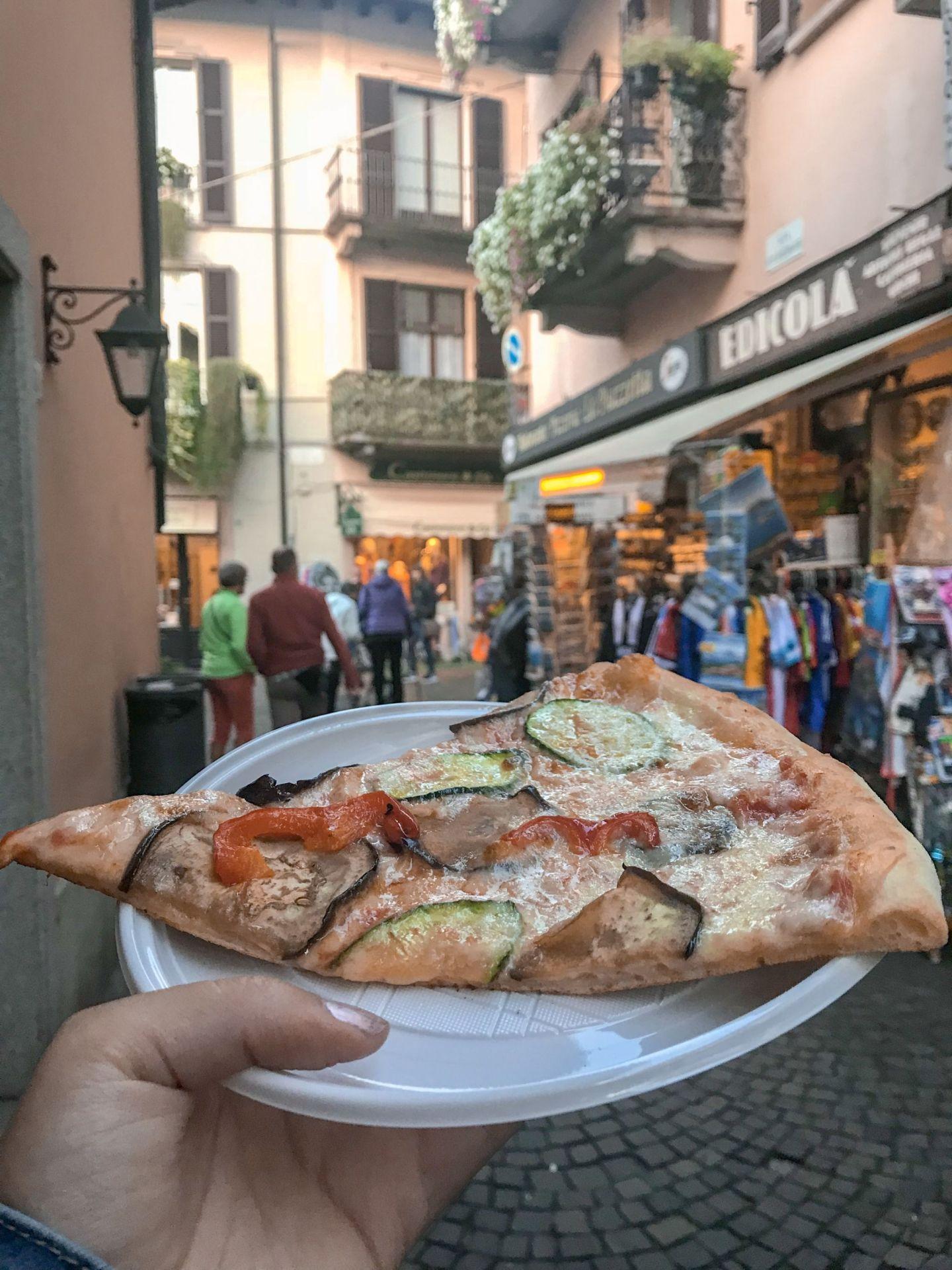 Thin crust Italian Pizza in Stresa