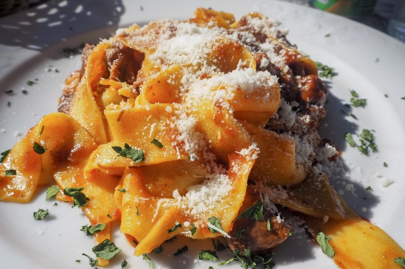 pappardelle pasta with wild boar sauce