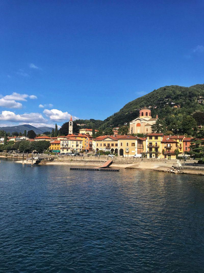 Ferry views over Laveno Lake Maggiore