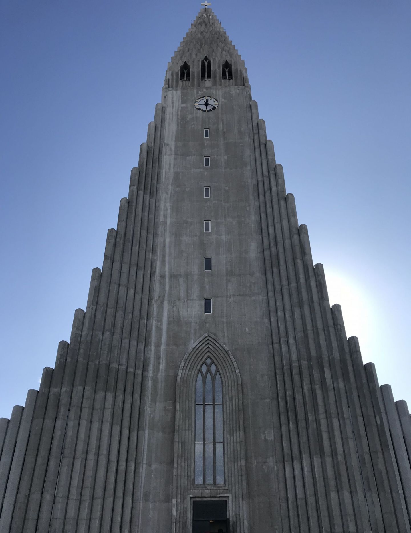 Iceland Hallsgrimskirkja church in Reykjavik city