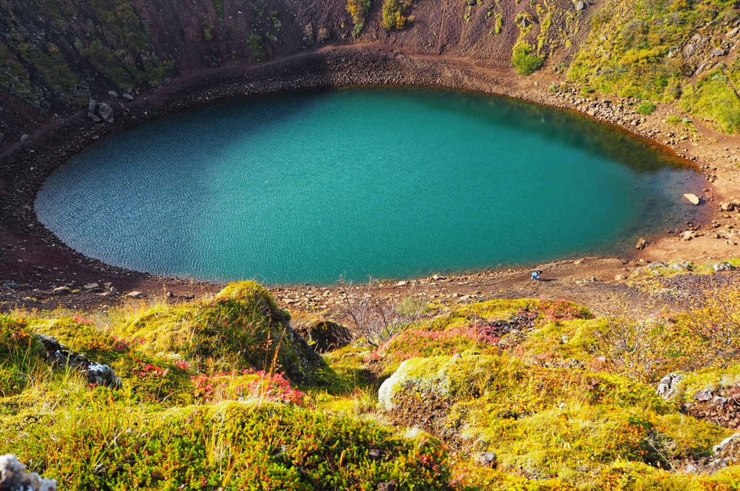 Kerid-Crater-Southern-Iceland in September