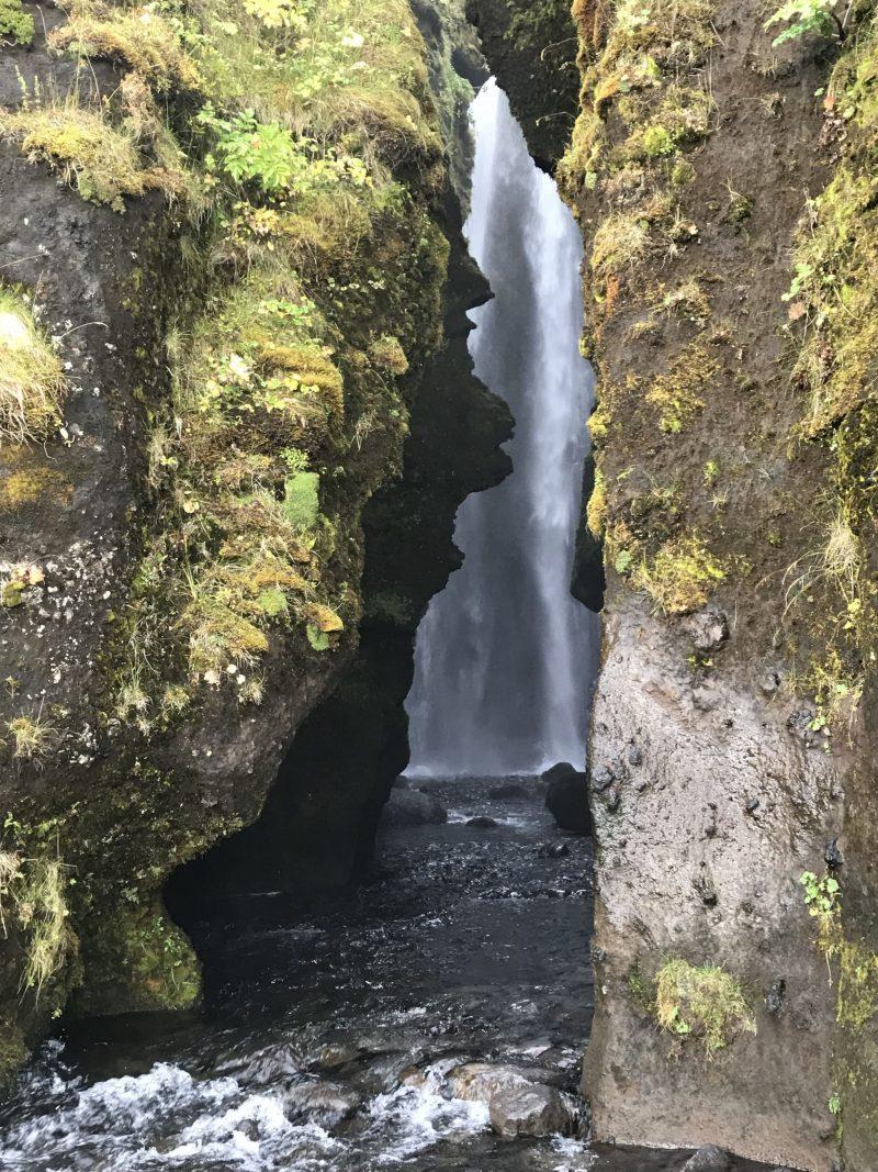Gljúfrabúi Hidden Waterfall Southern Iceland