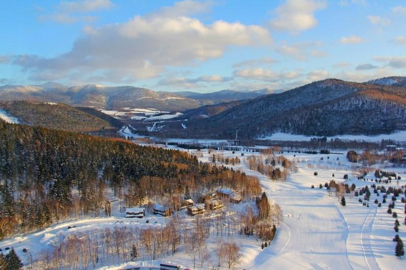 Snow mountain views Hokkaido Japan