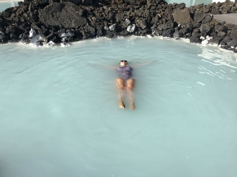 Laying back enjoying The Blue Lagoon Iceland
