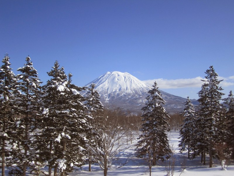 Mount Yotei view from Niseko Grand Hirafu slopes