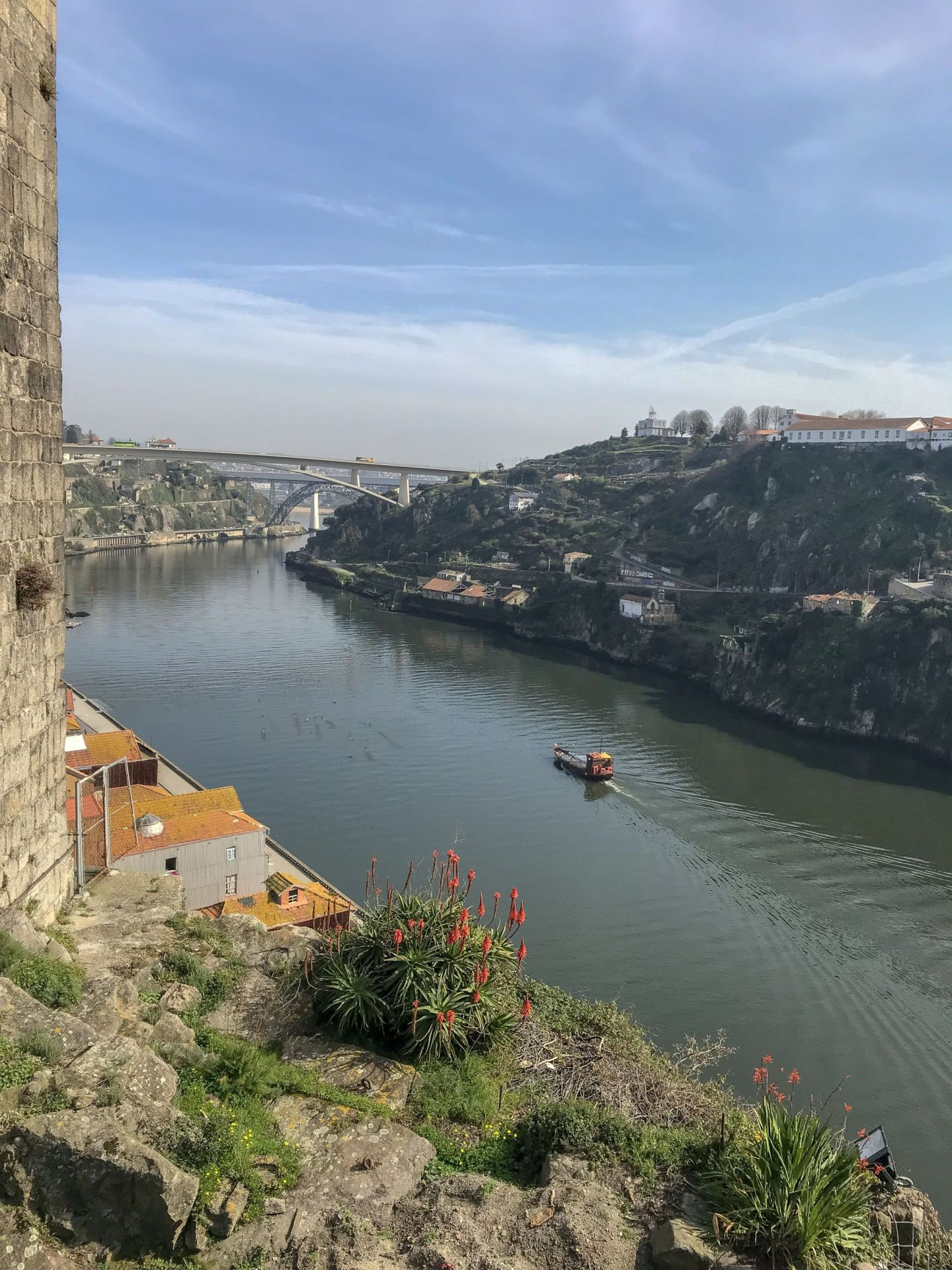 Beautiful views of the Douro River Porto