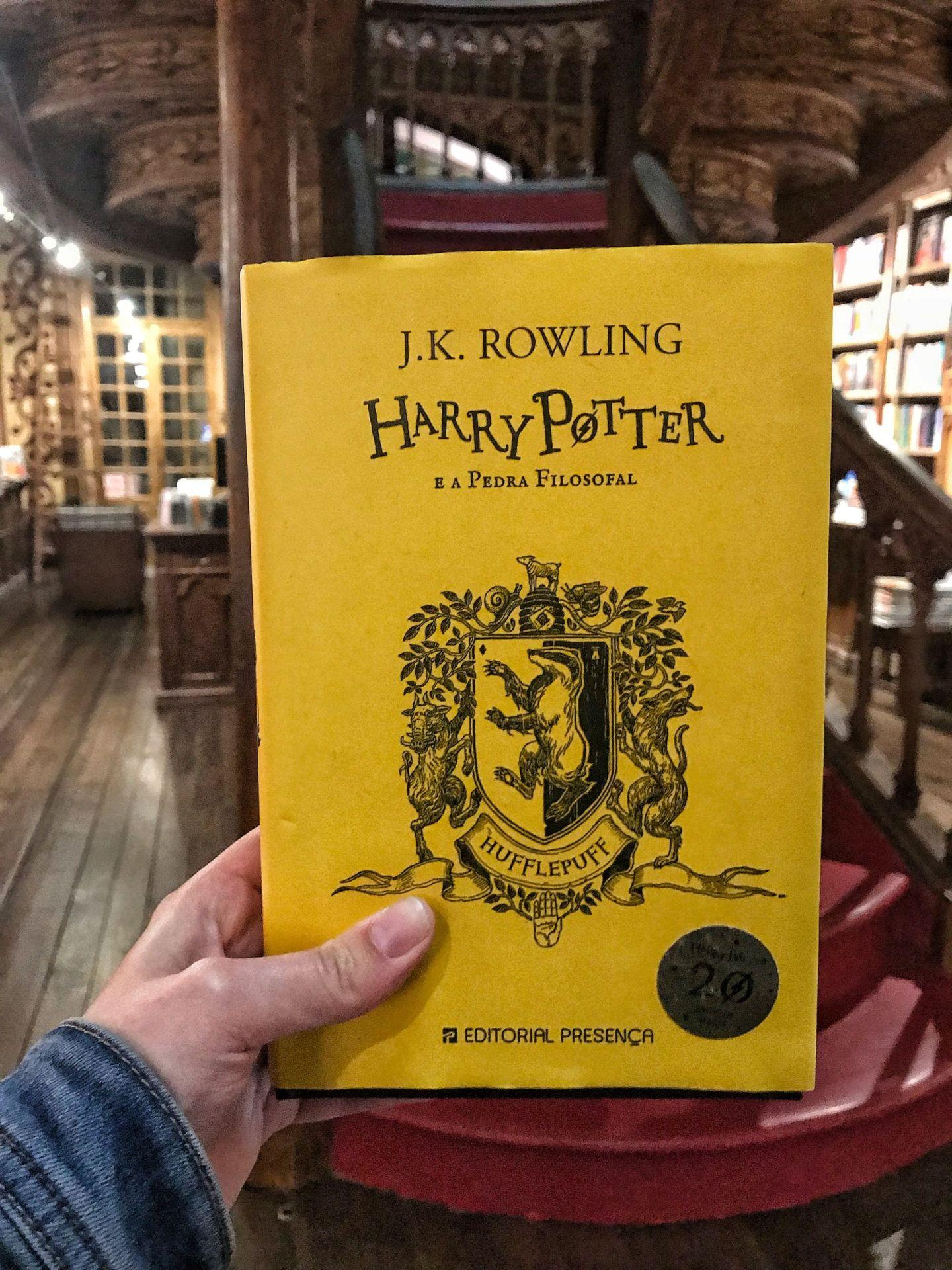 Harry Potter at Livraria Lello Book store Porto
