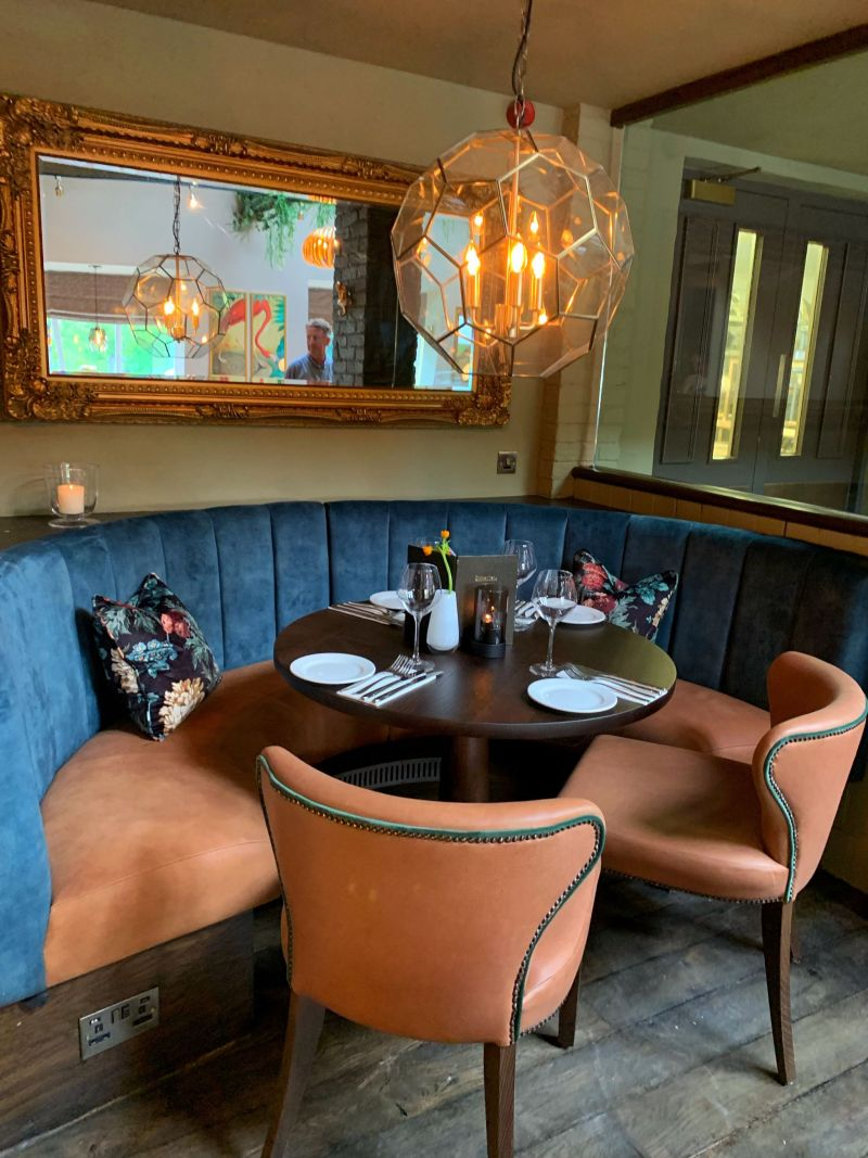 New dining booths at The Wavendon Arms Milton Keynes