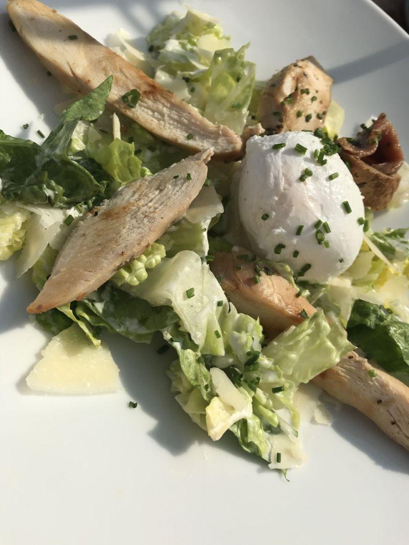 Chicken Caesar salad Prague