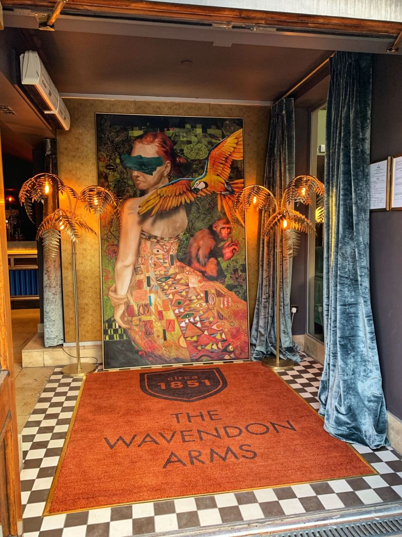 Warm Rainforest Inspired Entrance at The Wavendon Arms Milton Keynes