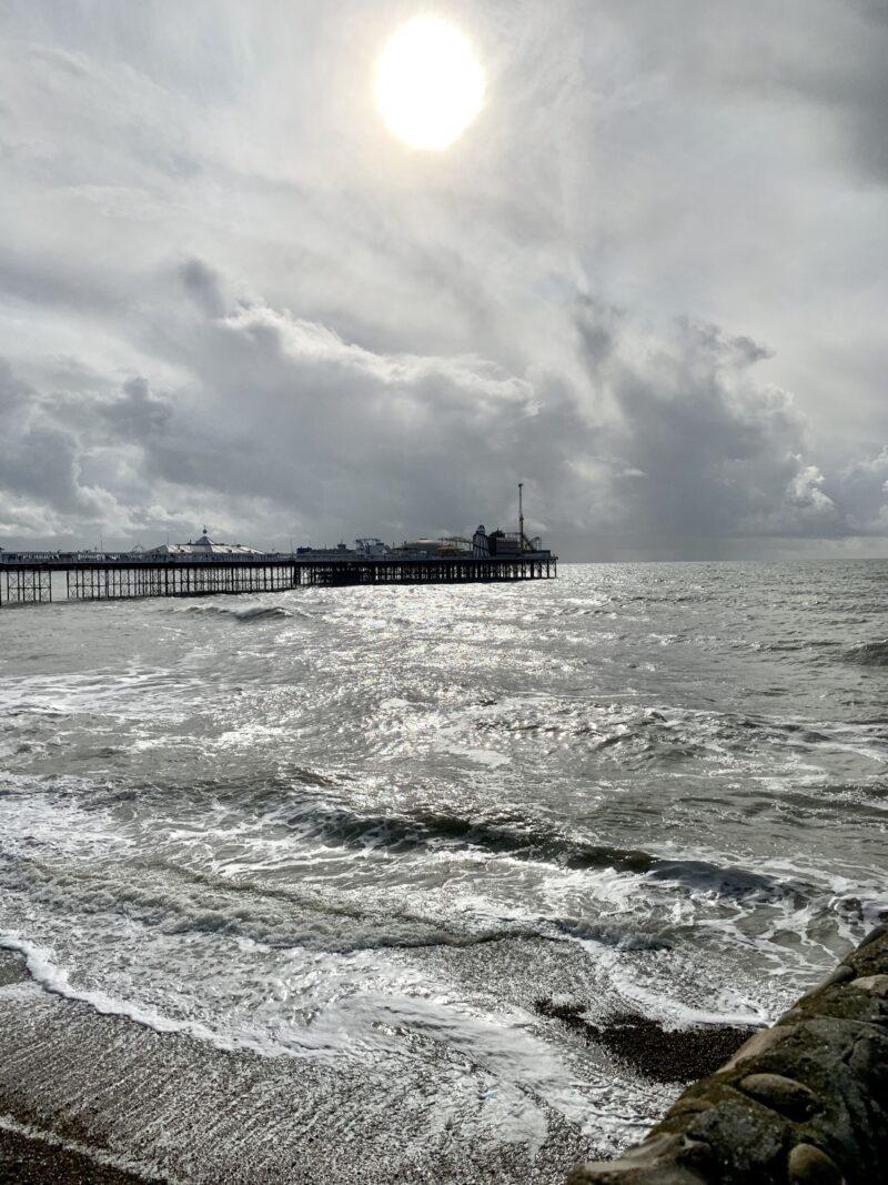 Dramatic-scenery-on-Brighton-Beach-England
