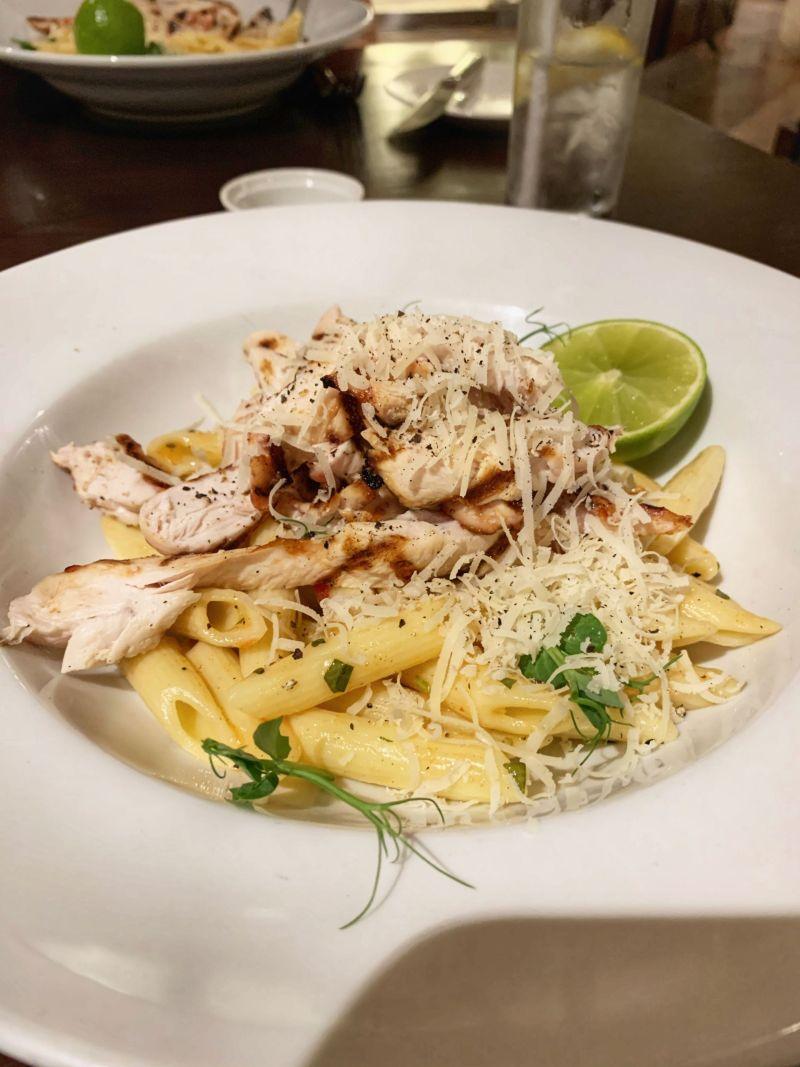 Chicken pasta lunch Kettering Park Hotel Spa