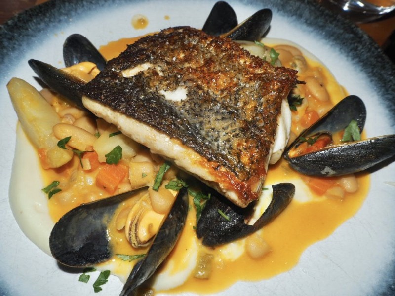 Pan-fried-hake-white-bean-cassoulet-mussells-and-cockels-The-Embankment-Pub-Bedford