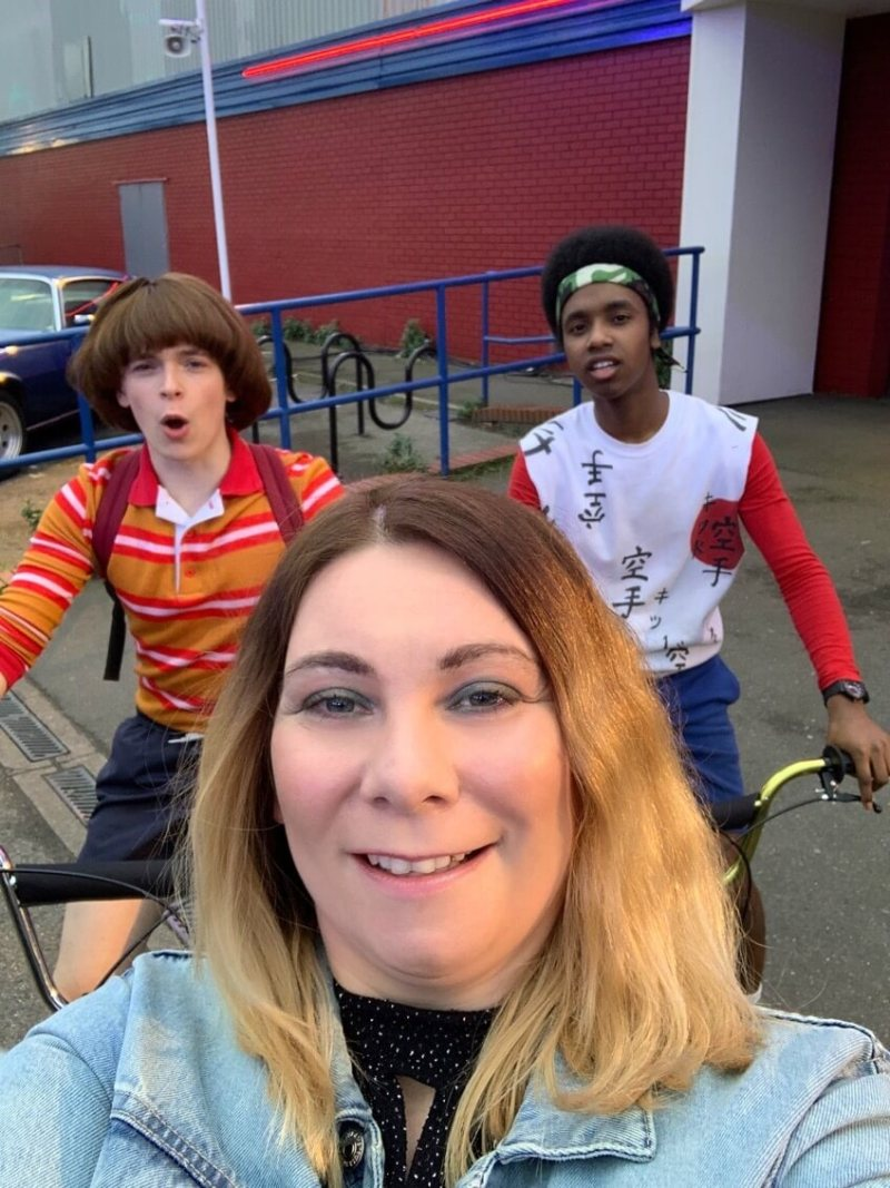 Stranger Things Selfie with Will and Lucas