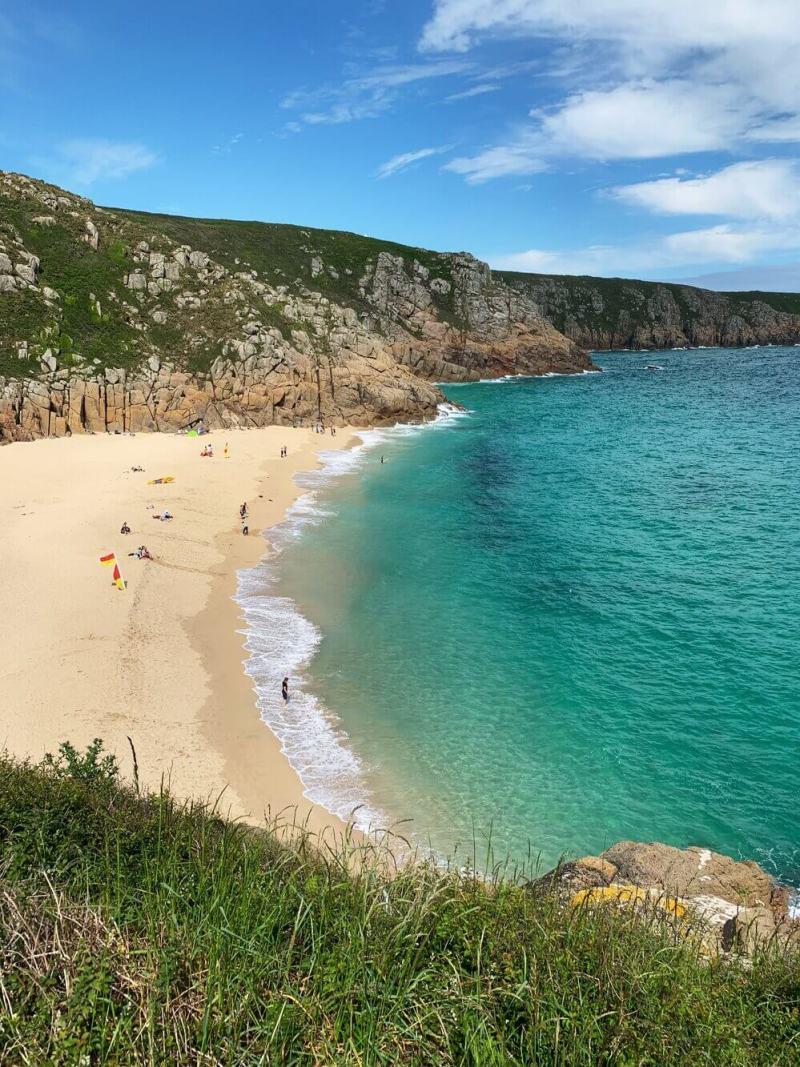 Cornwall Beach Guide Porthcurno Saint Levan