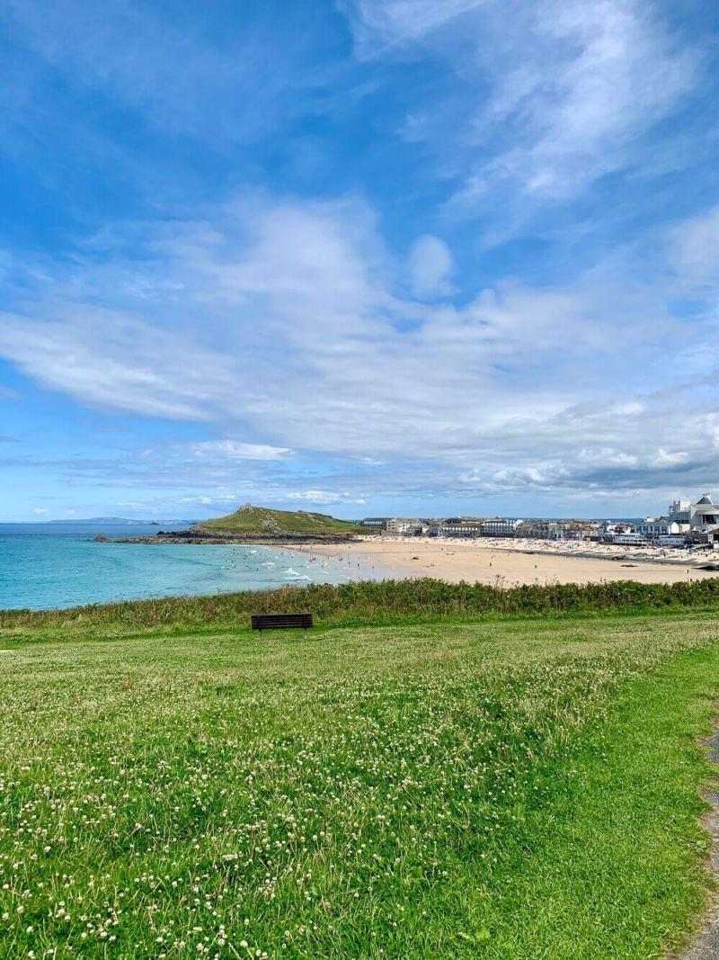 Porthmeor Beach Coastal Path view