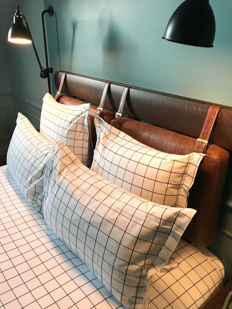 Boutique hotel pillows and bedding