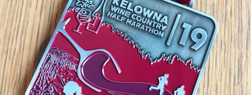 Kelowna Wine Country Half Marathon 2019 medal