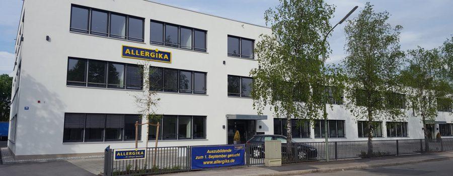Das Firmengebäude ALLERGIKA Pharma GmbH in Wolfratshausen