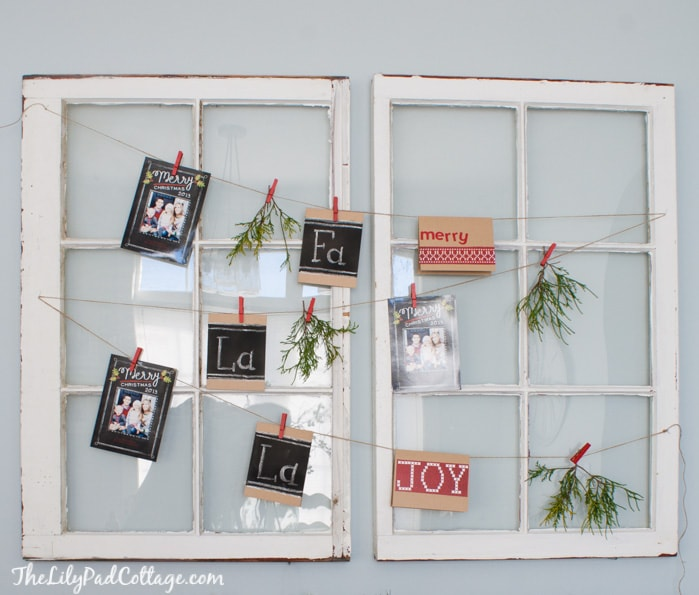 Christmas Card Display The Lilypad Cottage