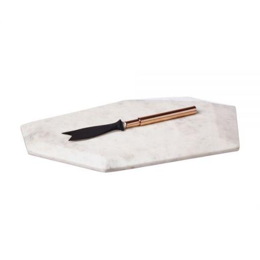 marble board copper knife