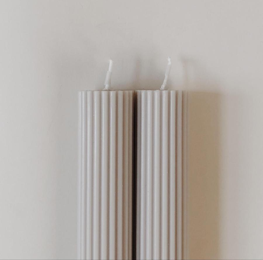 Ribbed Pillar Candles