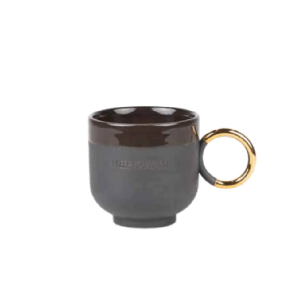 grey stone mug
