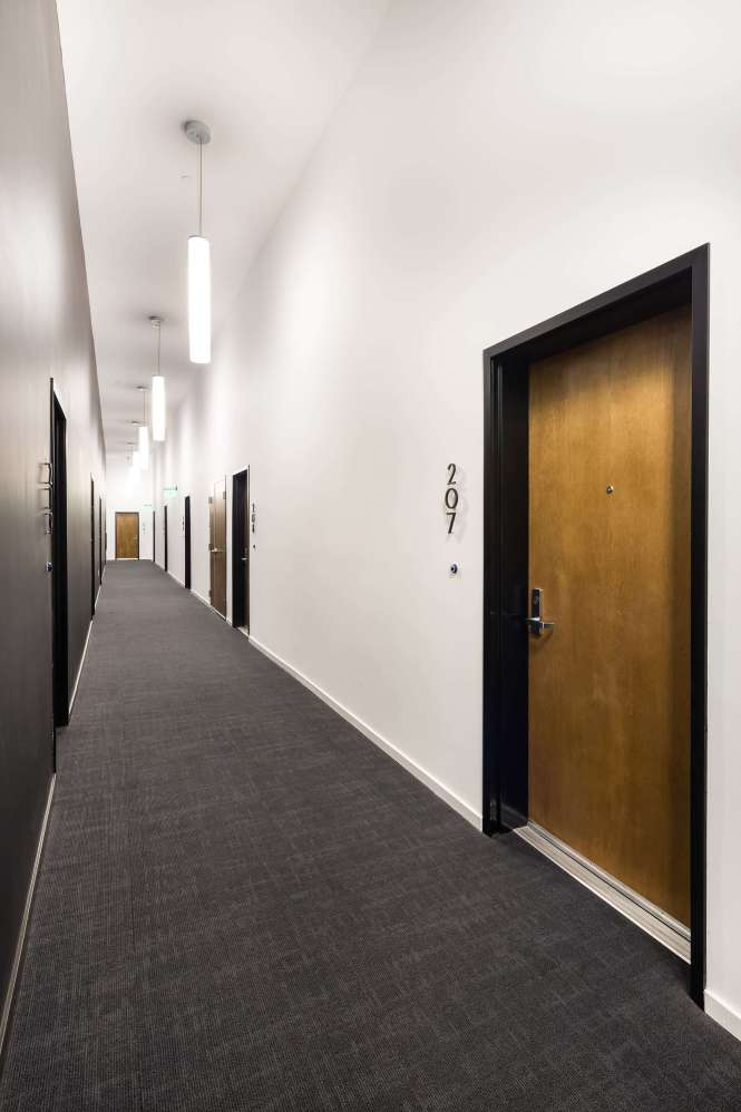 The Line Lofts Apartments Hallway