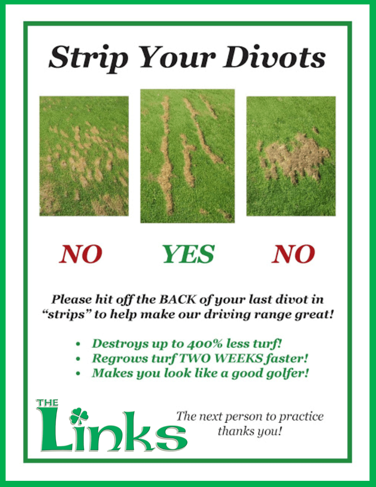 how to take a proper divot