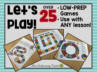 low prep board games
