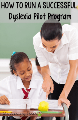 dyslexia and early intervention pilot program