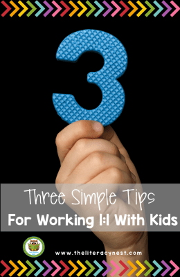 Simple tips and strategies for teachers and tutors when working in a  1:1 setting