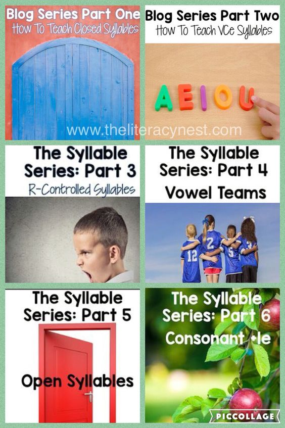 Syllable Types Activities