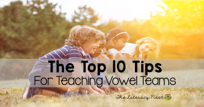 tips for teaching vowel teams