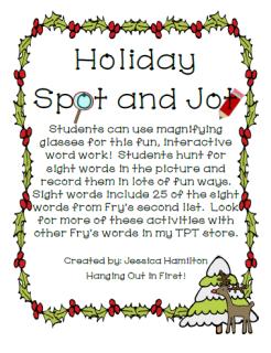 http://www.teacherspayteachers.com/Product/Christmas-Spot-and-Jot-1018866