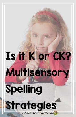 K or Ck phonics