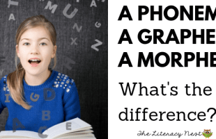 phoneme, grapheme, morpheme