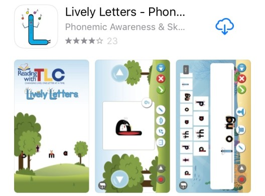 The Best Reading and Writing Apps Lively Letters app
