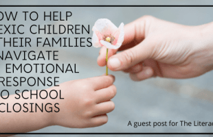 helping dyslexic child with school closings
