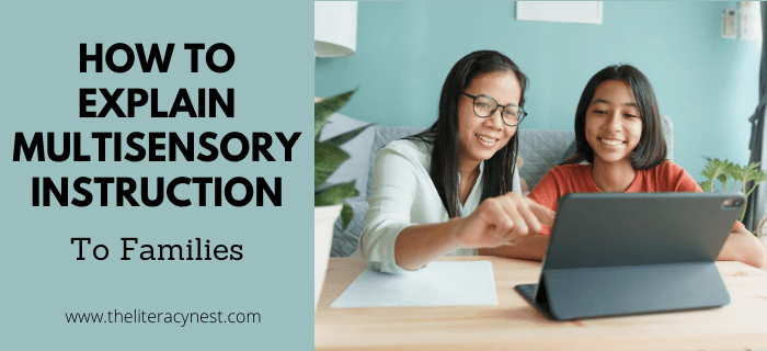 how to explain multisensory instruction to families