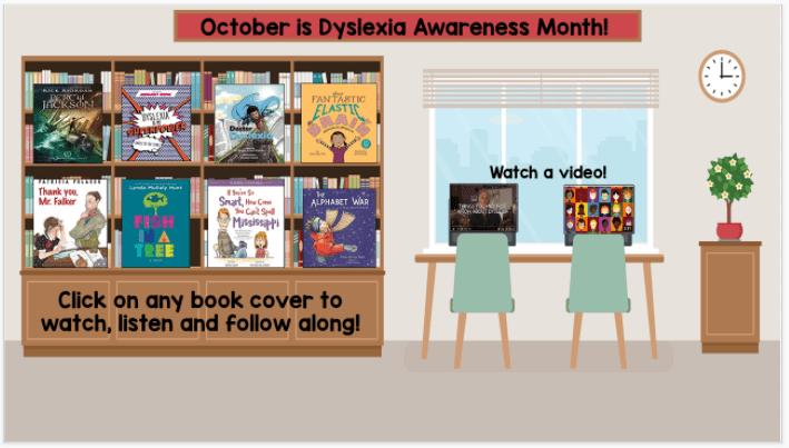 dyslexia awareness month virtual classroom